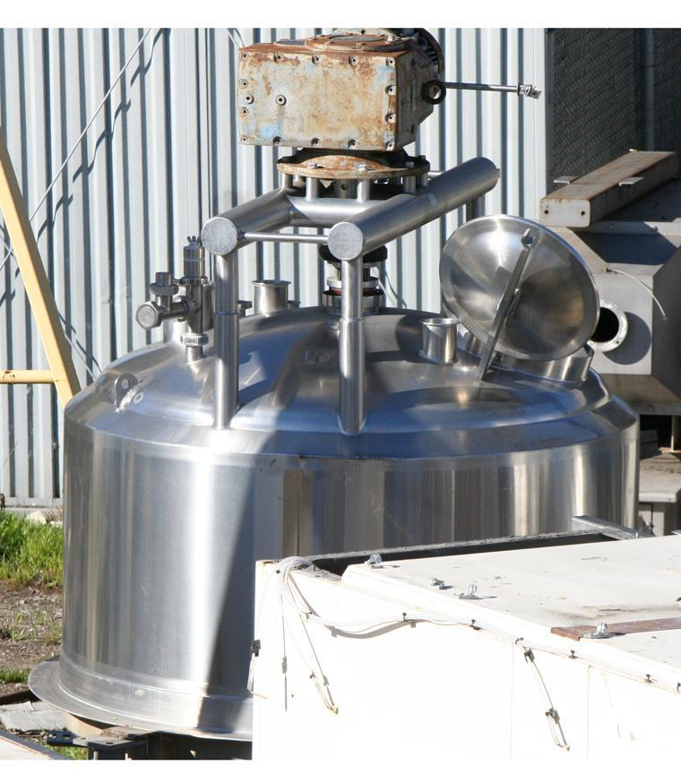 Image 500 Gallon APV CREPACO Jacketed Tank with Sweep Agitator 417707