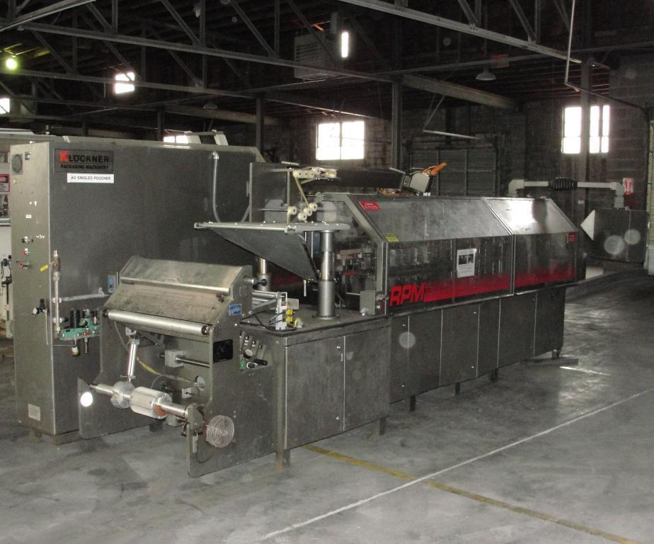 KHS KLOCKNER BARTELT Model RPML Horizontal Form, Fill and Seal Machine