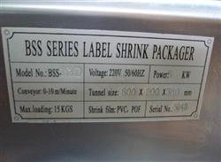 157635 - BBS Series Label Heat Shrink Tunnel