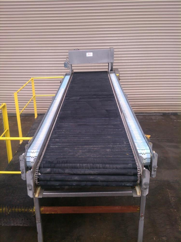 """Image 32"""" Wide x 14' Long SS Pack Off Conveyor with Operator Platform 422532"""