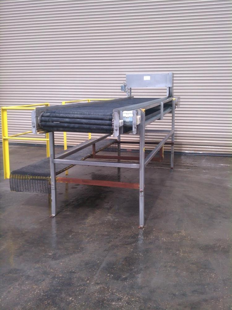 """Image 32"""" Wide x 14' Long SS Pack Off Conveyor with Operator Platform 422533"""