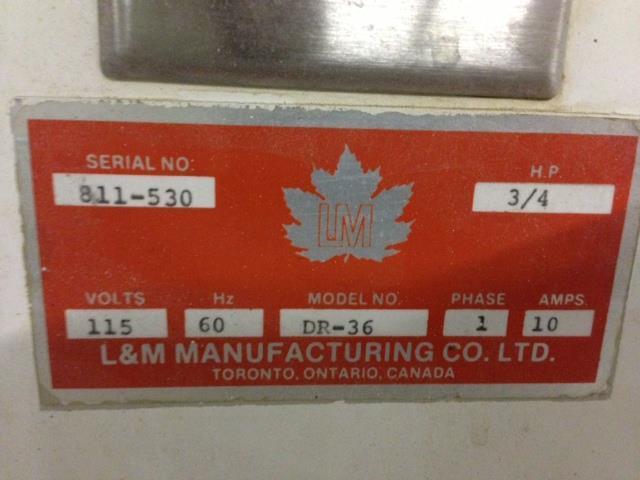 Image L&M MANUFACTURING DR-36 Dough Divider 424711