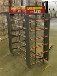 163038 - 2'W x 4'L x 5'H Metal Racking with 20 Baskets