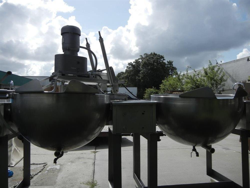 Image 100 Gallon GROEN MW/DGT 100-100 (Twin) Double Motion Scraped Surface Kettle 448361