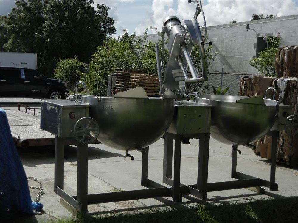 Image 100 Gallon GROEN MW/DGT 100-100 (Twin) Double Motion Scraped Surface Kettle 448363