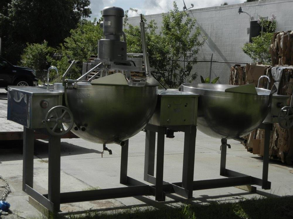 Image 100 Gallon GROEN MW/DGT 100-100 (Twin) Double Motion Scraped Surface Kettle 448366