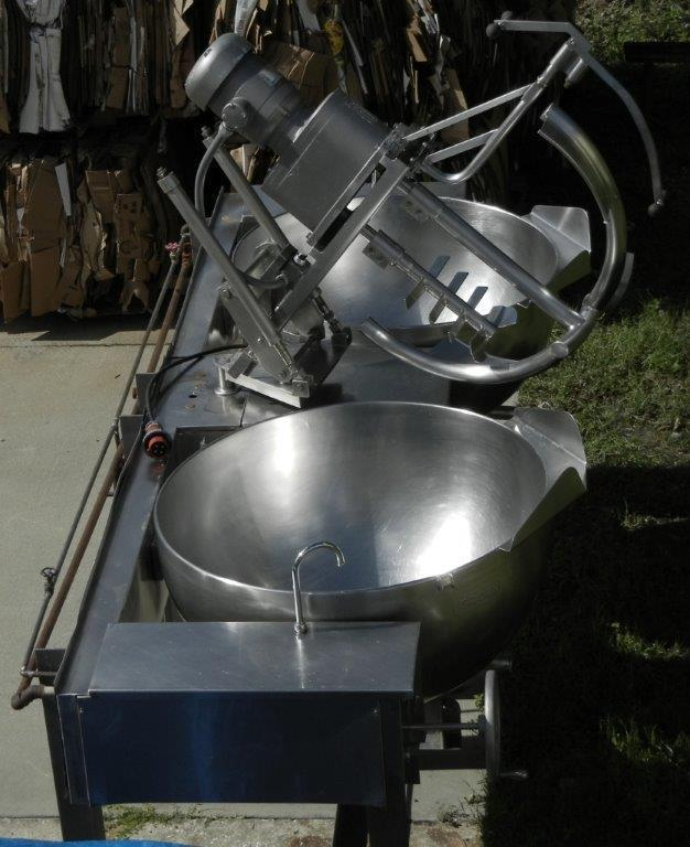Image 100 Gallon GROEN MW/DGT 100-100 (Twin) Double Motion Scraped Surface Kettle 448367