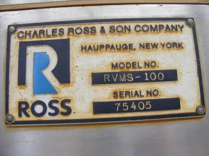 Image 100 Gallon ROSS Model RVMS-100 Pharmaceutical Mixing Reactor 469999