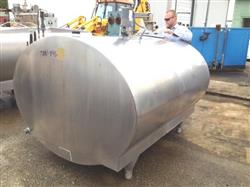 Image 800 Gallon MUELLER Model OH Stainless Steel Tank with Vertical Agitation and Refrigeration Jacket 482453