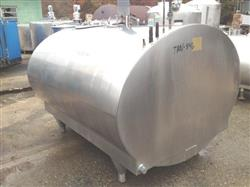 Image 800 Gallon MUELLER Model OH Stainless Steel Tank with Vertical Agitation and Refrigeration Jacket 482454