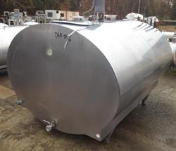 Image 800 Gallon MUELLER Model OH Stainless Steel Tank with Vertical Agitation and Refrigeration Jacket 482455