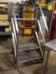 "180092 - 28.5""L x 30""W x 63""H Stainless Steel Stairs"