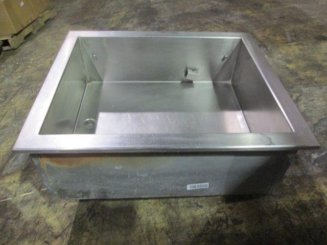 Image RANDELL Concession or Bar Ice / Bottle Holding Box with Drain 496767