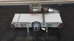 "Image 16"" x 40"" Long Stainless Steel Flat Belt Conveyor, White Food Belt 498135"