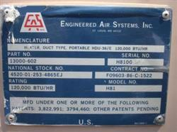 Image ENGINEERED AIR SYSTEMS Portable Ducted Air Heater, NEVER USED 503197