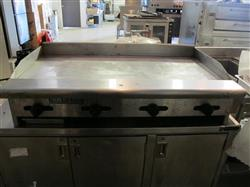 "185377 - 48"" AMERICAN RANGE ARMG-48 Commercial Natural Gas Flat Top Griddle"