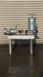 185674 - 2 HP FTI Stainless Steel Centrifugal Pump with Fulflo Filter on Stainles Steel Base