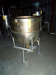 187980 - 100 Gallon J.C. PARDO Open Top Jacketed Kettle
