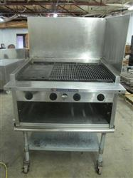 "188660 - 36"" BAKER'S PRIDE Eagle T3036GS Radiant Gas Charbroiler Grill with Cabinet"