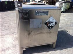 Image 350 Gallon HOOVER GROUP Stainless Steel Tote 531435