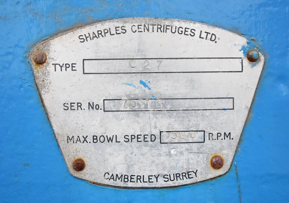 Image SHARPLES C-27 316 Centrifuge - Stainless Steel 1330203