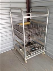 191352 - Aluminum Cooling Rack with 12 Stainless Steel Baskets