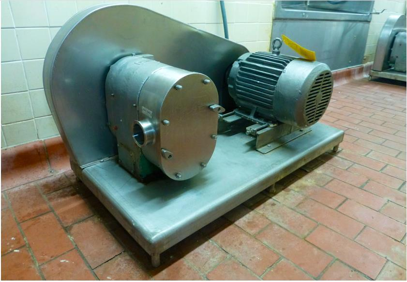 5 HP LADISH TRI-CLOVER Sanitary Food Pump