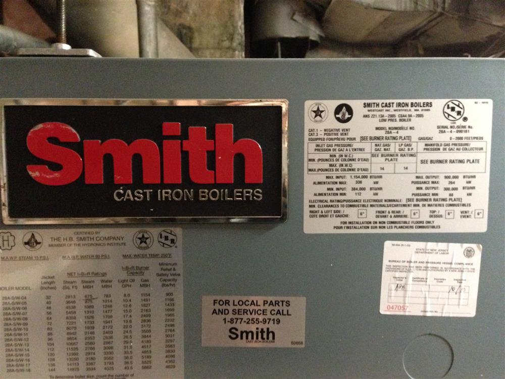 SMITH 28A-4 Cast Iron Boile - 192352 For Sale Used