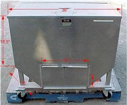 Image 14.5 Cubic Feet 108 Gallon Stainless Steel Tote on Wheels 867640