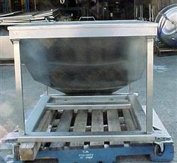 Image 14.5 Cubic Feet 108 Gallon Stainless Steel Tote on Wheels 561775