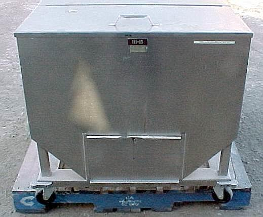Image 14.5 Cubic Feet 108 Gallon Stainless Steel Tote on Wheels 561776