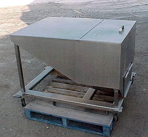 14.5 Cubic Feet 108 Gallon Stainless Steel Tote on Wheels