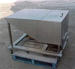 Image 14.5 Cubic Feet 108 Gallon Stainless Steel Tote on Wheels 867638