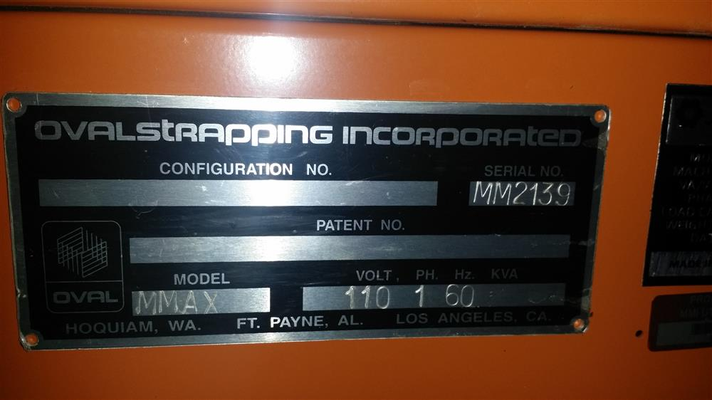 Image OVAL STRAPPING INC. MMAX Strapper 571581