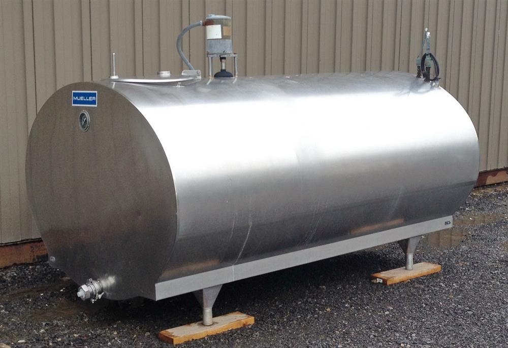 600 Gallon Sanitary Horizontal Stainless Steel Tank