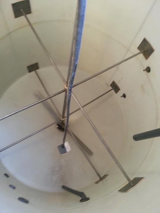 Image 3000 Gallon Vertical Industrial Water Tank with Mixer 587184