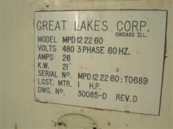 200411 - GREAT LAKE CORP MB203 Shrink Tunnel