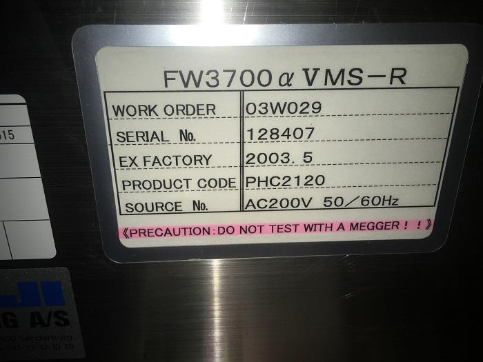 Image FUJI FW3700 Stainless High Speed Flow Wrapper 881999