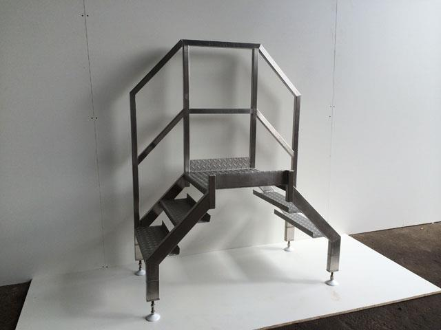NNP Stainless Staircase with Platform
