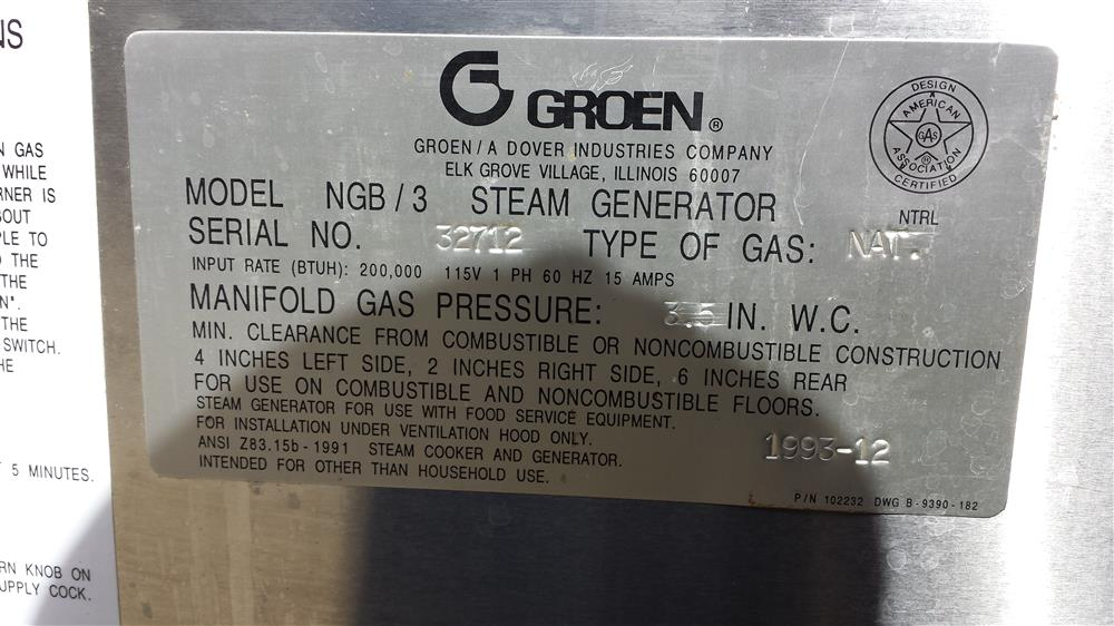 Image GROEN Steam Generator with 2 kettles 597643