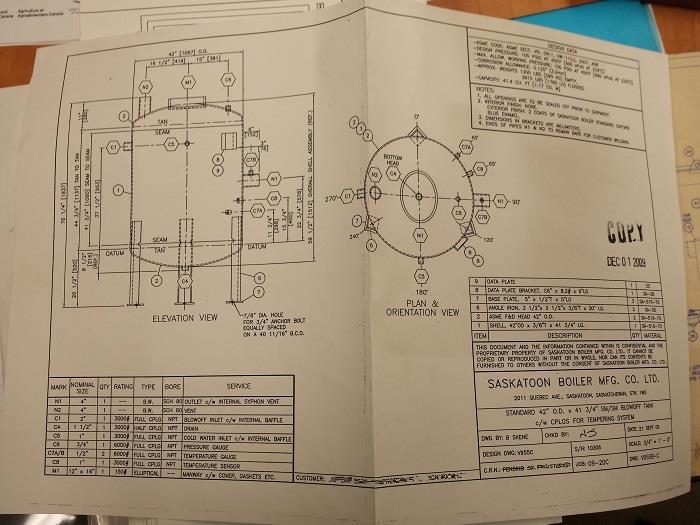 Image 500 HP SASKATOON JHG500 Boiler 1071568
