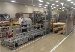 207608 - CERMEX Model PW900X Palletizer with Depalletizer Station and 2 Finished Pallet Accumulation Area
