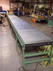 "208470 - 47' 6"" Long ZERO PRESSURE ACCUMULATION SZ196ZPA Powered Roller Conveyor"