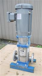 "208585 - 1.25"" X 1.25"" GOULDS G&L SSV Series 316 Stainless Steel Multi-Stage Vertical Booster Pump"
