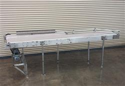 "209919 - 30"" Wide x 11' Long Stainles Steel Accumulation / Pack Off Conveyor"