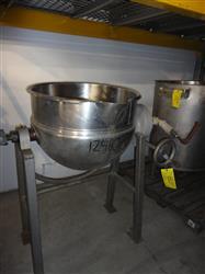 Image 40 Gallon HAMILTON Steam Jacketed Tilt Kettle   624429