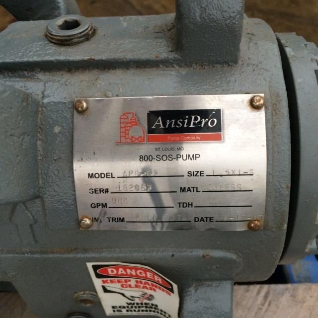 "1.5"" X 1"" ANSI PRO ADP-G1 Stainless Steel Centrifugal Pump"