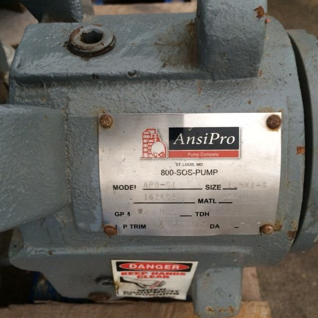 "Image 1.5"" X 1"" ANSI PRO ADP-G1 Stainless Steel Centrifugal Pump 624928"