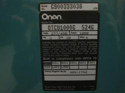 214128 - 1000 Amp ONAN OTCU1000G 524G Transfer Switch