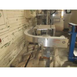 90 Degree Turn Plastic Link Belt Conveyor